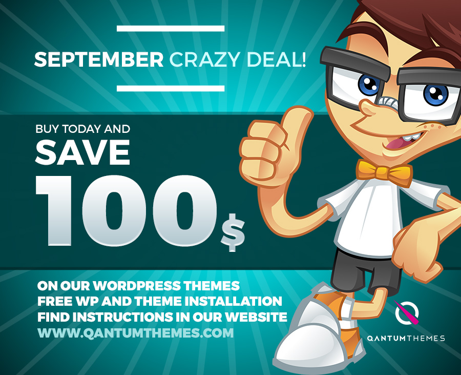 SEPTEMBER CRAZY DEAL! Save 100€ building your music website!