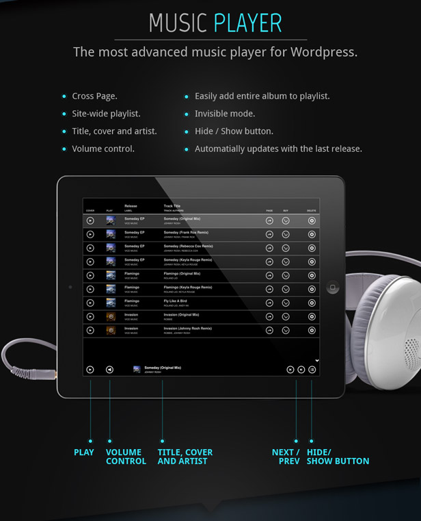 Soundcloud Music WordPress Theme
